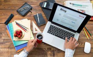 blogger screen